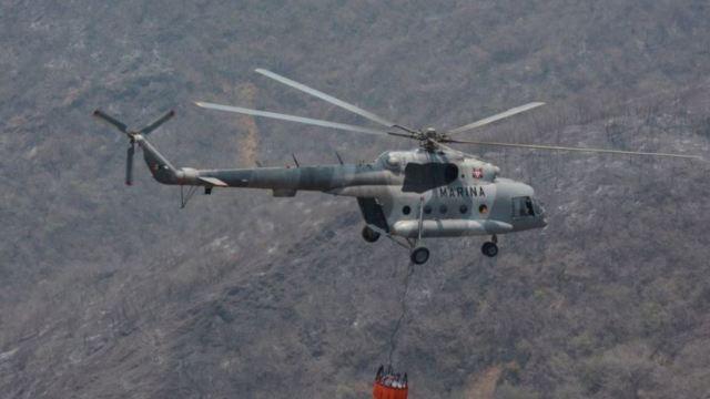 Foto: Localizan cuerpos de tripulantes de helicóptero de la Marina siniestrado, 25 mayo 2019