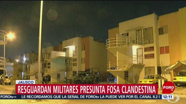 Militares resguardan casa con presunta fosa clandestina en Jalisco