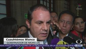 Minimiza Cuauhtémoc Blanco inseguridad en Morelos