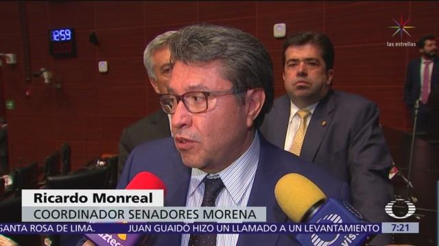 """FOTO: Monreal dice """"no hay fijón"""" por votos ausentes de Morena, 1 MAYO 2019"""