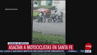 Foto: Motociclistas Asaltan Motociclistas Santa Fe Cdmx 24 Mayo 2019