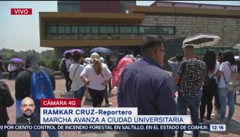 Movimiento de estudiantes excluidos marcha a Ciudad Universitaria de la UNAM