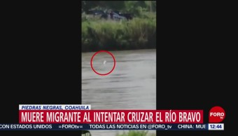 Muere migrante al intentar cruzar el Río Bravo, en Coahuila