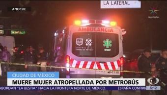 FOTO: Muere mujer atropellada por Metrobús en CDMX, 1 MAYO 2019