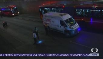 Muere mujer en accidente de motocicleta en Insurgentes Norte, CDMX