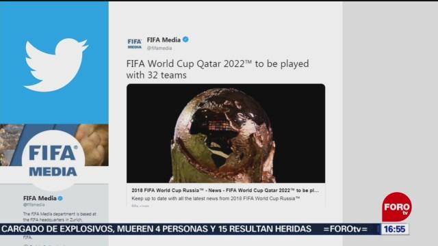 foto: Mundial de Catar 2022 se jugará con 32 selecciones y no con 48