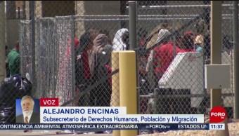 FOTO: Niña guatemalteca murió al caer de una litera en el INM: Encinas, 18 MAYO 2019