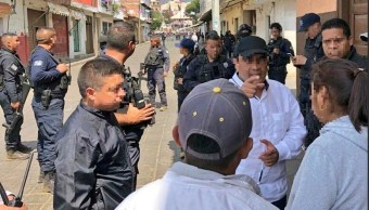 Foto: Operativo de seguridad en Michoacán, 2 de mayo 2019. Twitter @MICHOACANSSP