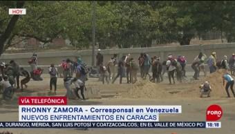 FOTO: Opositores se enfrentan con fuerzas de seguridad en Venezuela, 1 MAYO 2019