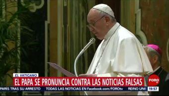 FOTO: Papa se pronuncia contra las noticias falsas, 18 MAYO 2019