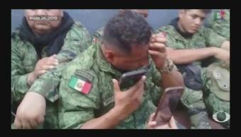 Foto: Pobladores Huacana Retienen Militares Video 27 Mayo 2019