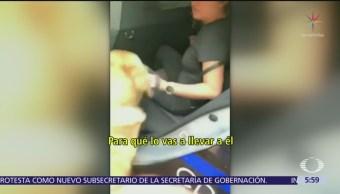 Policías de CDMX detienen a dueña y dos perros por meterse a fuente