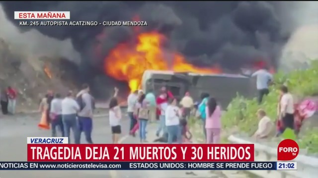 Foto: Choque Autobus Pasajeros Veracruz Muertos 29 Mayo 2019