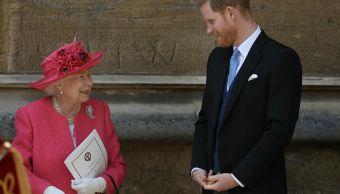 Foto: El príncipe Harry y la reina Isabel II asiste a la boda real, 18 mayo 2019