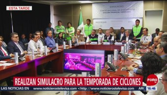 Foto: Protección Civil hace simulacro para atender emergencia por ciclón