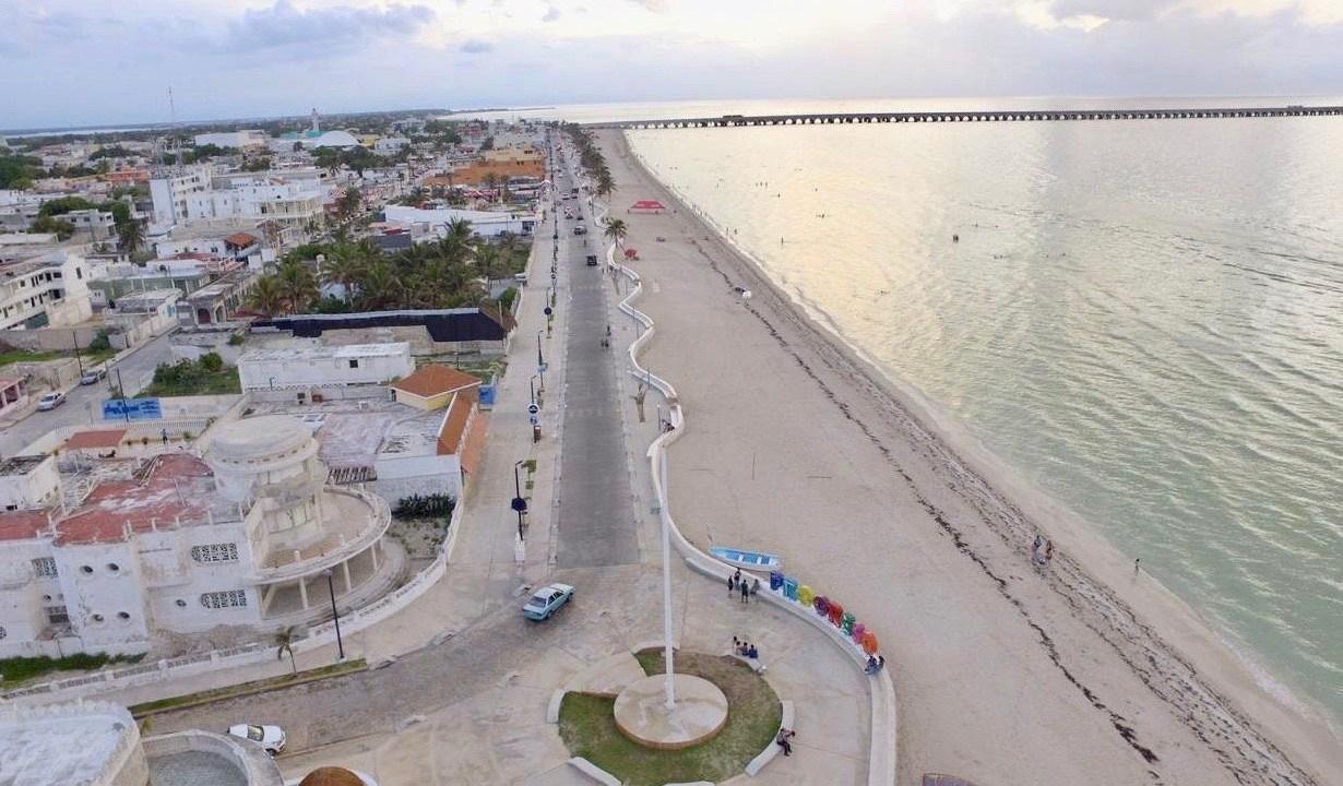 Foto: Imagen de Progreso, ciudad puerto de la península de Yucatán en México, mayo 19 de 2019 (Twitter: @MauVila)