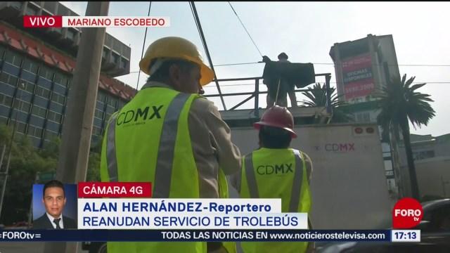 FOTO: Reanuda servicio de trolebús en Mariano Escobedo