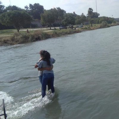 Rescatan a madre e hija en río Bravo de Piedras Negras, Coahuila