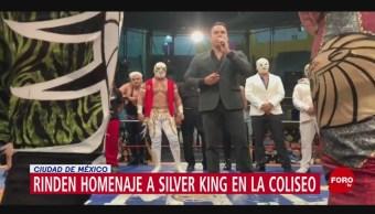 FOTO: Rinden homenaje a Silver King en la Coliseo en CDMX, 12 MAYO 2019