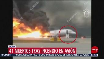 Foto: Golpe Rayo Avión Muertos Rusia 6 de Mayo 2019