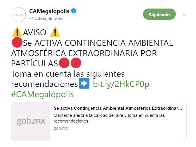 Foto: Se activa Contingencia Ambiental Atmosférica en Valle de México 14 mayo 2019