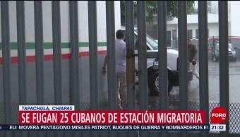 FOTO: Se fugan 25 cubanos de estación migratoria en Tapachula, Chiapas, 11 MAYO 2019