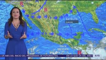 Se mantiene ambiente caluroso en gran parte de México