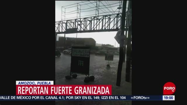 FOTO: Se registra granizada en Amozoc, Puebla, 18 MAYO 2019