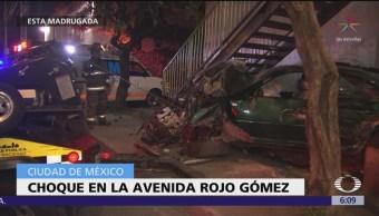 Se registran dos choques en calles de la CDMX