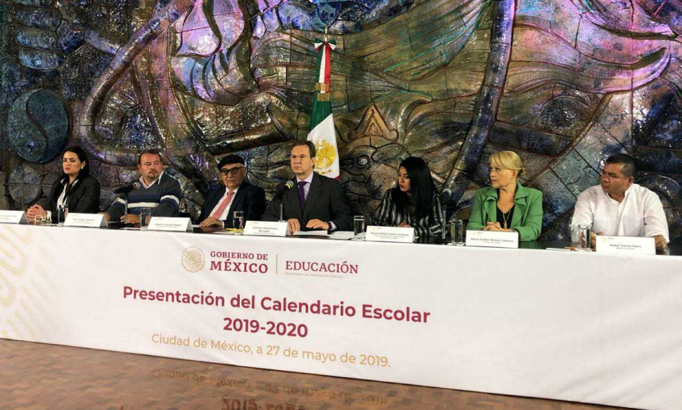 Foto SEP presenta calendario escolar 2019-2020 27 mayo 2019