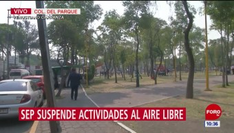 SEP suspende actividades al aire libre en CDMX