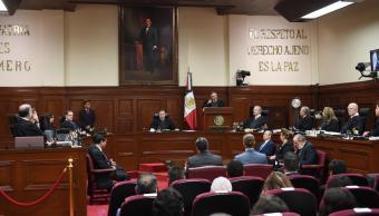 Foto: Sesión en la SCJN, 9 de abril 2019. Facebook- Suprema Corte de Justicia de la Nación)