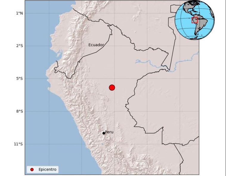 Foto: El sismo tuvo como epicentro un punto en el centro de Perú, el 26 de mayo de 2019 (Twitter @sgcol)