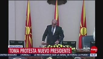 FOTO: Stevo Pendarovski asume la presidencia de Macedonia del Norte, 12 MAYO 2019