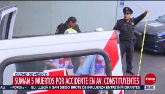 FOTO: Suman 5 muertos por choque en avenida Constituyentes, CDMX, 25 MAYO 2019