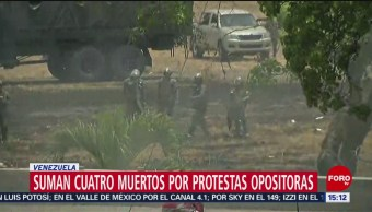 Foto: Suman cuatro muertos por protestas en Venezuela