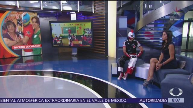 Tacubo Luchador fue víctima de bullying y ahora lo combate