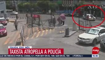 Foto: Taxista atropella a policía en Toluca