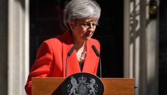 Foto: La primera ministra Theresa May hace una declaración fuera del 10 Downing Street en Londres, Inglaterra, 26 mayo 2019