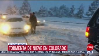Foto: Tormenta de nieve tardía cubre calles de Denver, Colorado