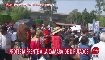 Trabajadores de Cultura se manifiestan frente a Cámara de Diputados