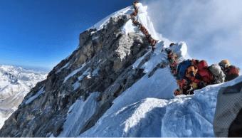 Foto: Tráfico de alpinistas en el Everest,, mayo de 2019,