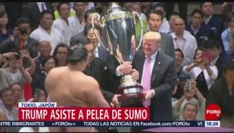 FOTO: Trump asiste a una competencia de sumo, 26 MAYO 2019