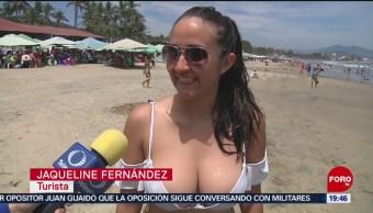 FOTO: Turistas regresan a disfrutar las playas de Colima, 4 MAYO 2019