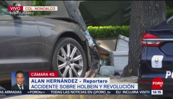 FOTO: Un muerto tras accidente sobre Holbein y Revolución, alcaldía Benito Juárez, 25 MAYO 2019