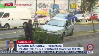 Foto: Un muerto y un herido tras balacera en Periférico sur