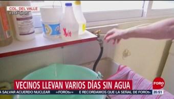 Foto: Vecinos de la colonia Del Valle llevan varios días sin agua potable