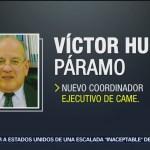 FOTO: Víctor Hugo Páramo, nuevo titular de la CAMe