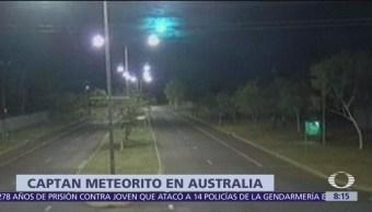 Video del momento en que un meteorito cruza Australia