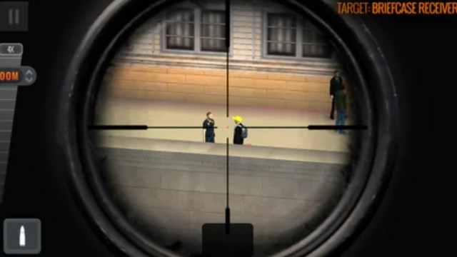"""Foto: La compañía brasileña TFG desarrolló el videojuego """"Sniper 3D Assassin"""" y una de sus misiones consiste en asesinar a un periodista, mayo 19 de 2019 (Twitter: @burtoncynthia)"""